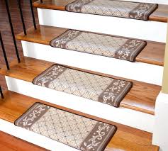 dean modern diy bullnose wraparound non skid carpet stair treads caramel scroll border non skid modern bullnose wraparound stair treads by dean flooring