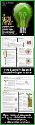 the great gatsby character analysis graphic organizers great gatsby worksheets quizzes hw discussion for fitzgerald s novel ccss