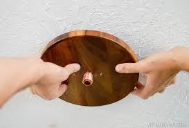 diy wood and copper modern chandelier 25