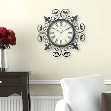 chaney wall clock the inch wall clock features an ornamental metal frame making it the perfect