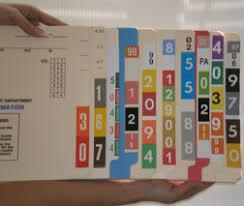 Hisacount Printed Card File Pockets