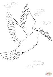 the peace dove with olive branch