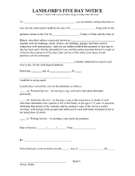 5 day eviction notice illinois form 5 day notice fillable form fill online printable fillable blank