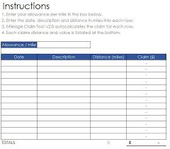 mileage calculator excel mileage claim tool v2 0