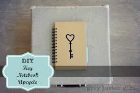diy key notebook from an old book
