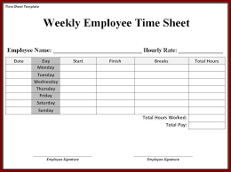 Timecard Template Word Time Card Templates Free Time Card Templates Free