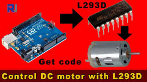 introduction to l293d and controlling dc motor no stepper