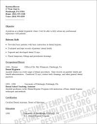 Dental Hygienist Resume Template Resume Templates