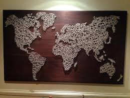 String Art Diy String Art Map Of France In This Case But Could Be Anything