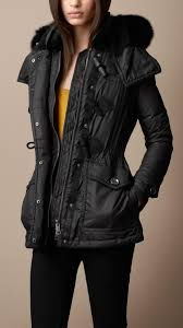 Lyst - Burberry brit Fur Trim Quilted Duffle Coat in Black & Gallery. Women's Quilted Coats Adamdwight.com