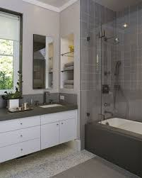 bathroom remodel gray tile. Bathroom Remodel On A Budget Pictures White Rectangular Bathtub Near Sink Oval Free Standing Gray Tile