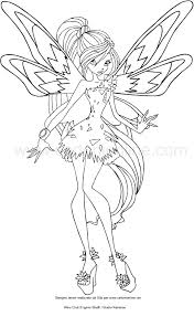 Disegno Di Bloom Tynix Winx Club Da Colorare