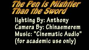 the pen is mightier than the sword  the pen is mightier than the sword