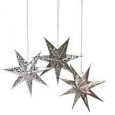 Details Zu 3 Tlg Set Papiersterne ø 21 Zum Hängen Dekosterne Weihnachtsdeko Fensterdeko