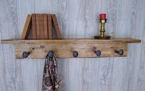 Reclaimed Wood Coat Rack Shelf Reclaimed Wood Coat Rack 100 Inch Spike Shelf 100 superior Wooden 4