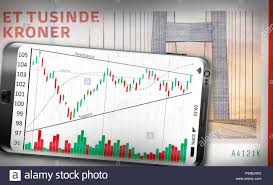 A Smartphone Showing A Technical Analysis Chart Lying On A