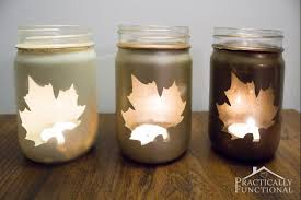 Cute idea to turn mason jars into DIY candle jars, all you need are stickers