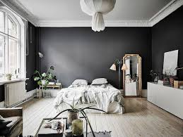 black wall decor for bedroom