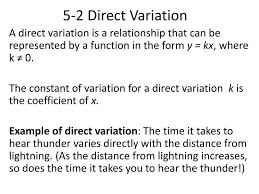 direct variation form ppt 5 2 direct variation powerpoint presentation id 2463939