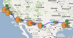 Driving Trip Planner Maps Mania Driving Directions With Weather