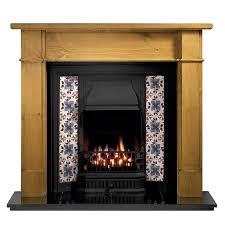 gallery worcester pine fireplace with sovereign cast iron tiled insert