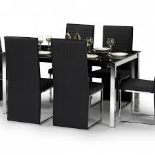 glass dining furniture melbourne. melbourne glass \u0026 chrome dining table + 6 chairs furniture u