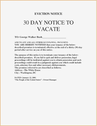 30 day notice to vacate letter to tenant template 27 30 day notice to vacate