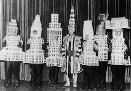 famous architects. This Picture From The Society Of Beaux-Arts Architects Annual Ball In 1931 Shows Seven Noted Wearing Costumes That Resemble New York City Famous M