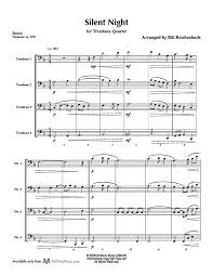 sheet music silent night silent night trombone quartet mcginty music llc