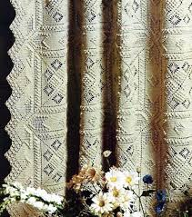 Curtain Size Conversion Chart Crochet Curtain Or Bedspread Vintage Crochet Pattern Instant