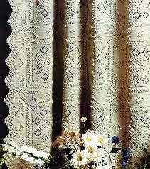 Crochet Curtain Or Bedspread Vintage Crochet Pattern Instant