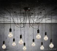 pendant lighting modern nordic retro hanging lamps chandelier edison bulb fixtures spider ceiling lamp fixture light for living room blown glass pendant