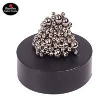 topsun magnetic sculpture desk toy for intelligence development stress relief magnetic stainless steel ball office healing