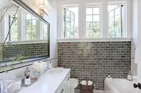 gray subway tile bathroom Bathroom with bathroom remodeling