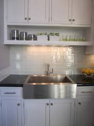 Glass subway tile kitchen Backsplash Ideas Gray Subway Tile Decorpad Gray Subway Tile Transitional Kitchen