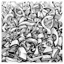abstract doodles wallpaper mural