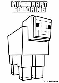 Small Picture Printable Minecraft Coloring Pages Coloring Home