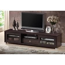 dark brown tv stand. Brilliant Dark Baxton Studio Beasley 70Inch Dark Brown TV Cabinet With 2 Sliding Doors  And Drawer  Walmartcom Intended Tv Stand I