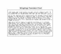 45 Free Wingdings Translator Charts Template Lab