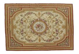 an aubusson style needlepoint rug 9 feet 8 inches x 7 feet 1 inch