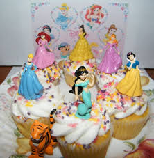 Disney Princess Cake Toppers Set Of 7 With Jasmine Belle Arial