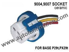 automotive connectors 9007 px29t hb5 headlight ceramic socket pigtail connector harness wiring