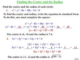 6 finding the centre and the radius