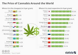Weed Gram Chart Chart The Price Of Cannabis Around The World Statista