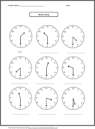 Practice Clocks For Telling Time Worksheets Learning To Tell Lovely ...