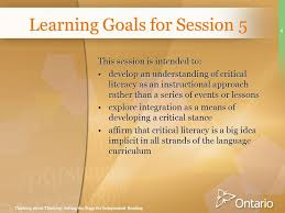 Thinking about Thinking  Becoming an Independent Reader Curriculum  Documents Sessions