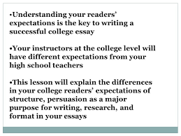 understanding your reader s expectations the college essay  2 understanding