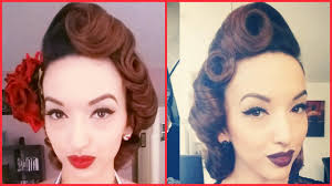 Pin Curl Hair Style pin curls tutorial for short long or layered hair youtube 7044 by stevesalt.us