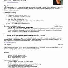 Entry Level Flight Attendant Resume New Resume For Flight Attendant ...