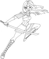 free printable super hero high coloring page for katana one of my favorite actually i love all of them